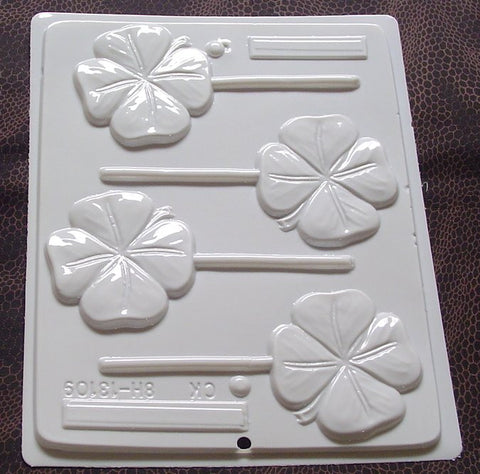 Copy of Four Leaf Clover Sucker Mold~HS-13109