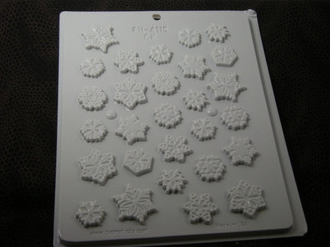 Christmas~Snowflake Assorted Mini Mold~HS-4115