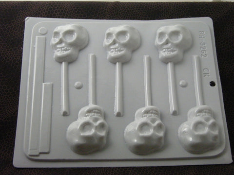 Copy of Halloween~Skull Sucker Mold~HS-3262