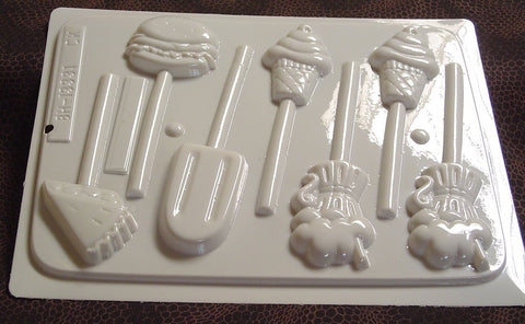 Soda Fountain Treats Sucker Mold~HS-13331