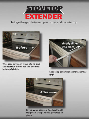 White Stovetop Extender (1 Pak) 23 inch  One side of stove only!!