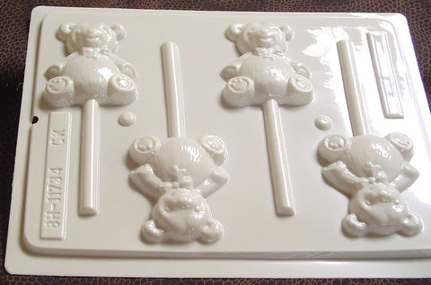 Teddy Bear Sucker Mold~ HS-11734