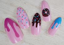 Stiletto Nails | False Nails | Acrylic nails | Fake nails | Artificial nails | glue on nails | Press on nails | cupcake nails | dessert nails