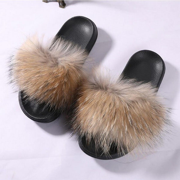 Super Comfortable Fur Slippers For Women