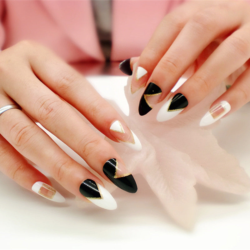 12 Designs Stilletto Nails Choose From Different Color Press On
