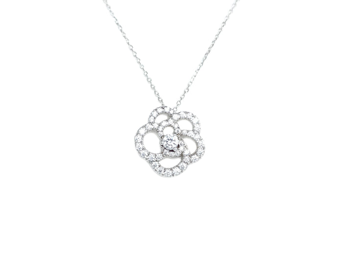 Rose Setting Necklace