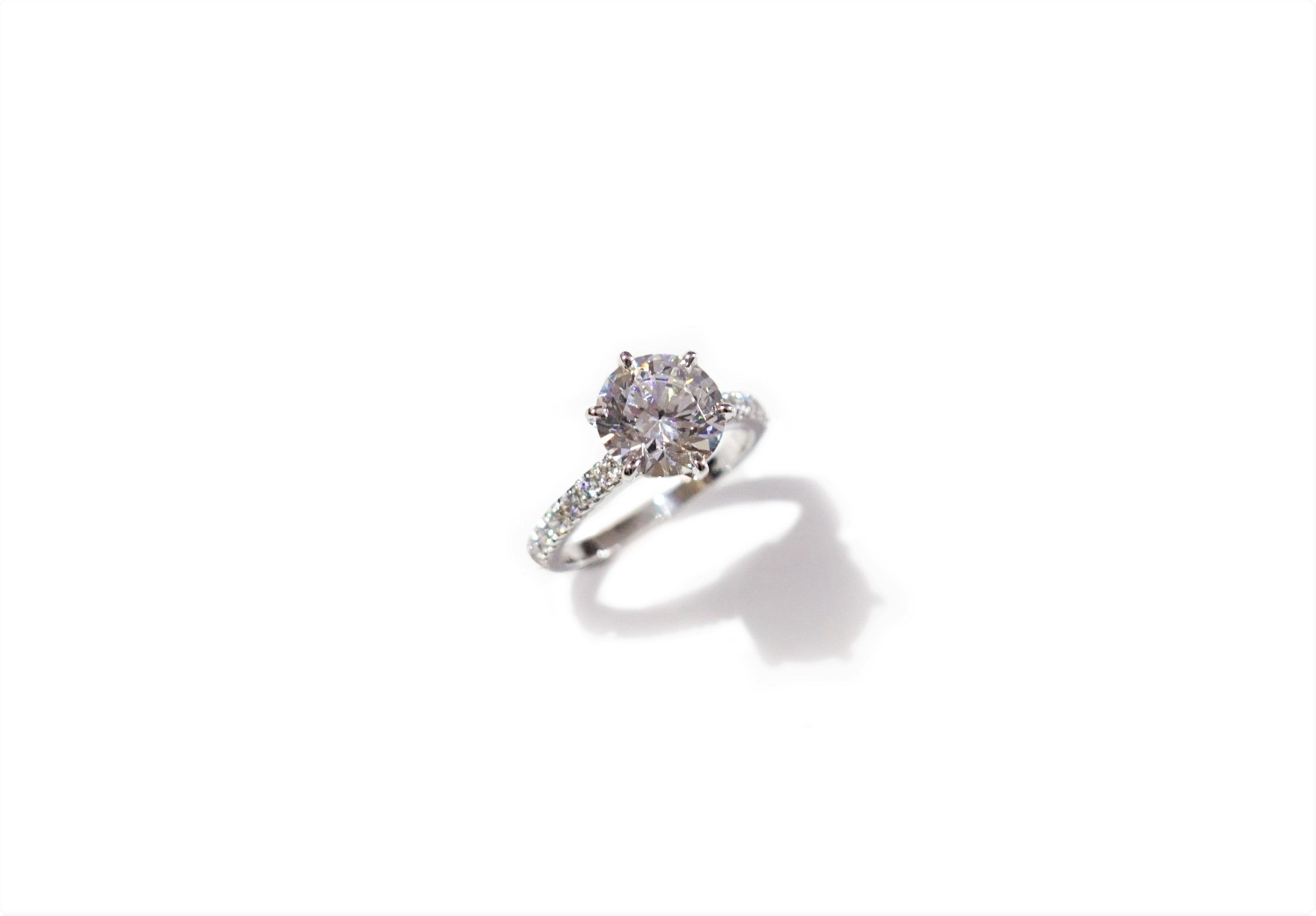 6 Prong Band Setting Solitaire Ring (1ct, 2ct, 3ct)