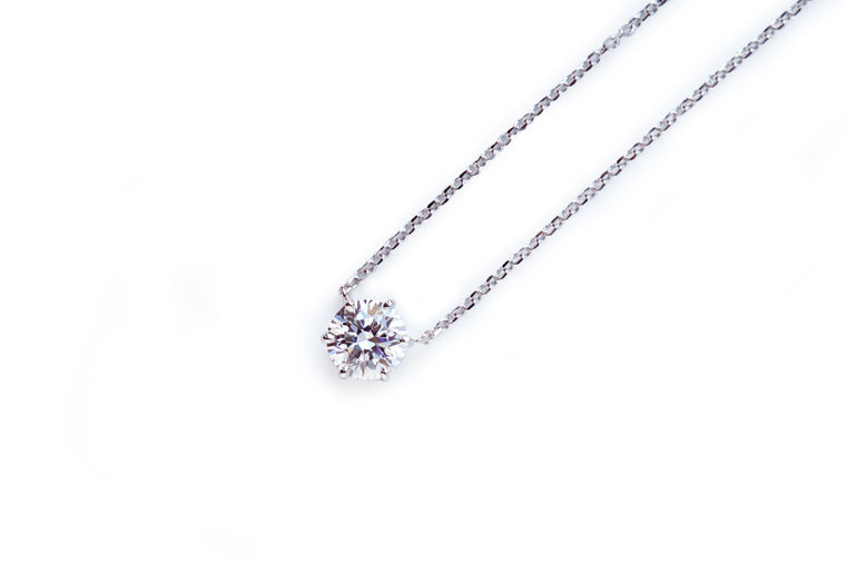 6 Prong Solitaire Necklace (0.5ct, 1ct, 2ct, 3ct)