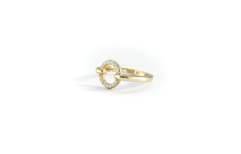 Mini Round Pave Ring
