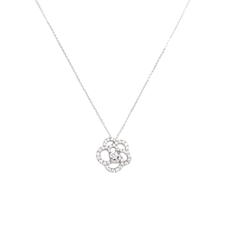 Rose Setting Necklace (diamond pre-order)
