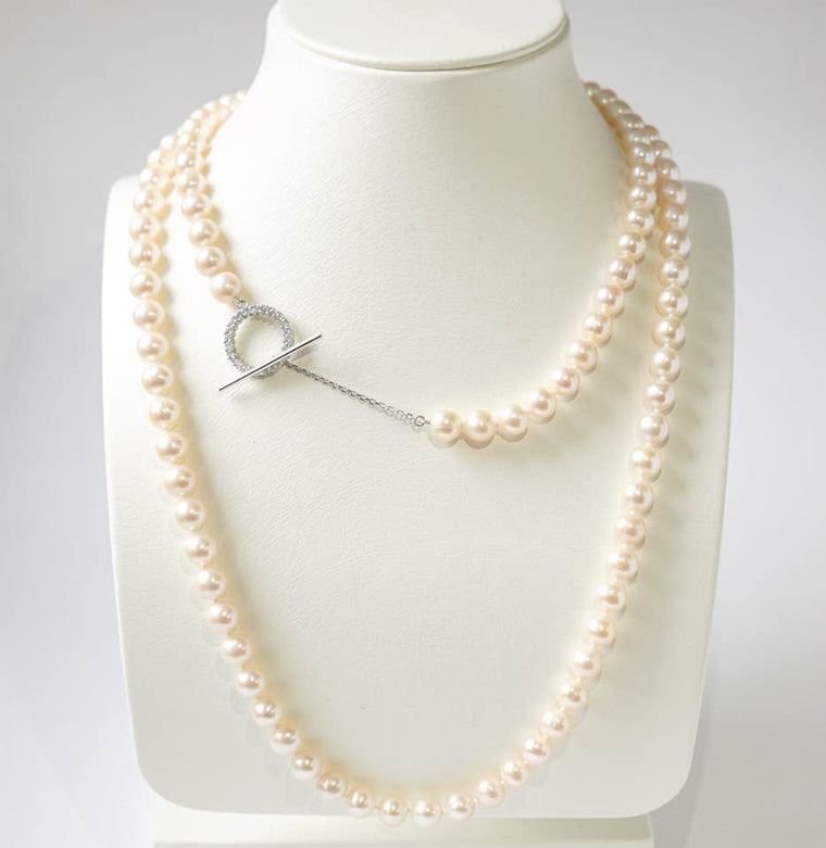 Halo Pearl Necklace