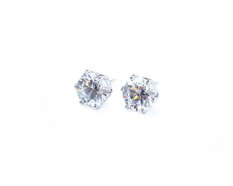 6 Prong Stud Earrings (0.5ct, 1ct, 2ct)