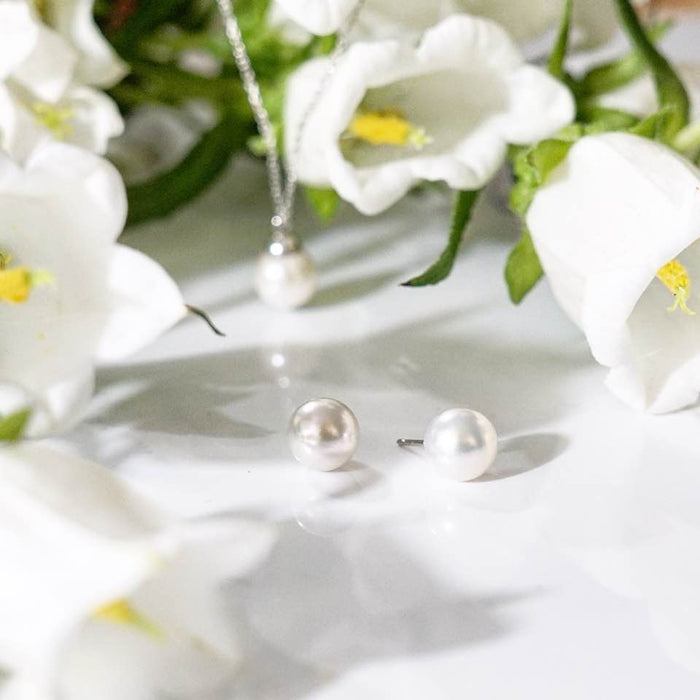 Akoya Pearl Stud Earrings (7mm,8mm,9mm)