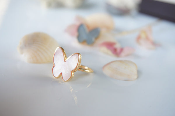 Classic Mother Of Pearl Butterfly Ring
