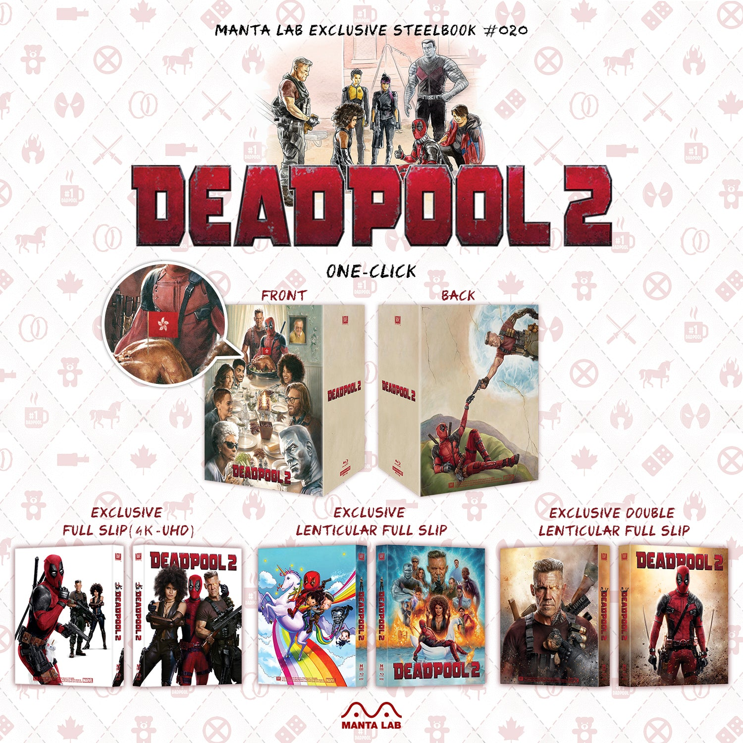 [ME#20] Deadpool 2 Steelbook (One Click)