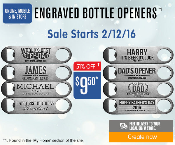 Engraved Bottle Openers