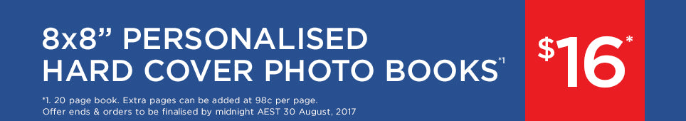 Category Personalised Hard Cover Photo Book offer - ends 30.08.17
