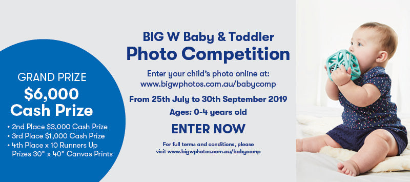 BIG W Baby Photo Competition 2019