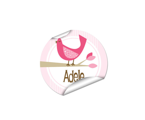 Bird 45pk Labels - Round