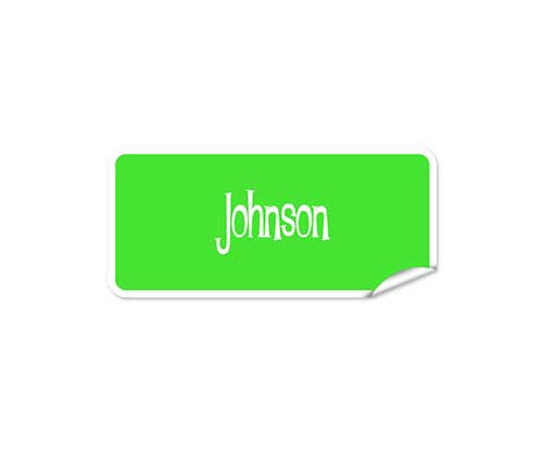 Light Green 42pk Labels - Rectangle