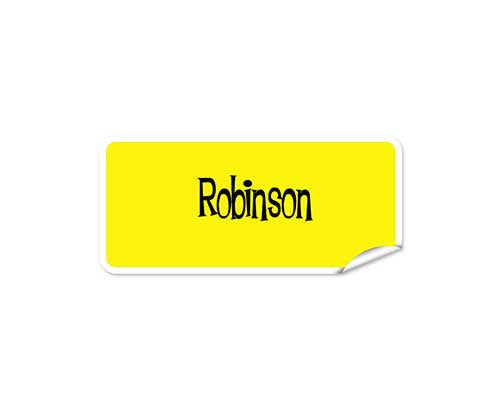 Yellow 42pk Labels - Rectangle
