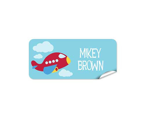 Red Plane 48pk Labels - Rectangle