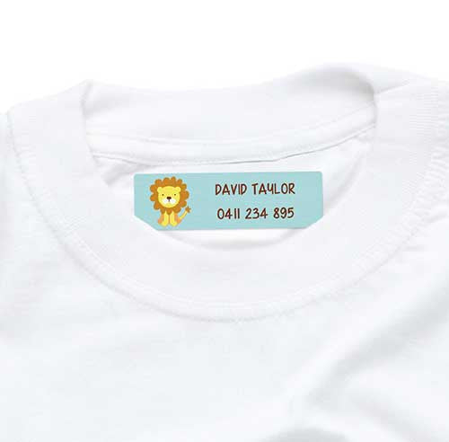 Iron On Labels 44pk - Cute Lion