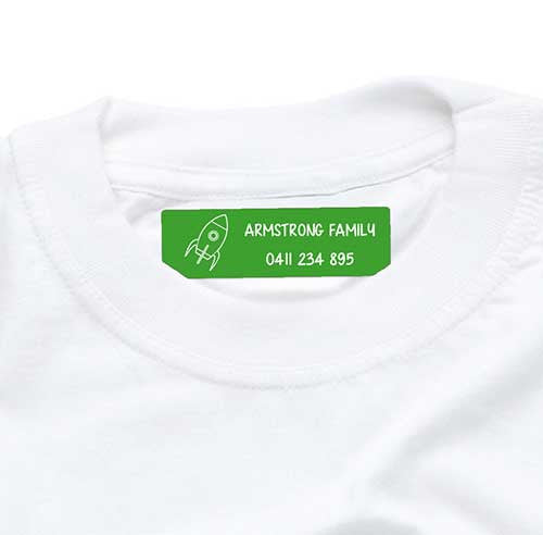 Iron On Labels 44pk - Green