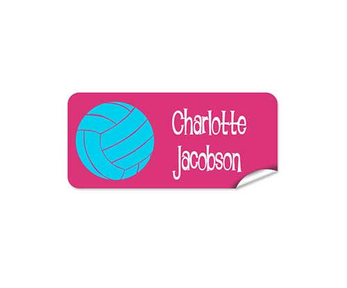 Netball 42pk Labels - Rectangle
