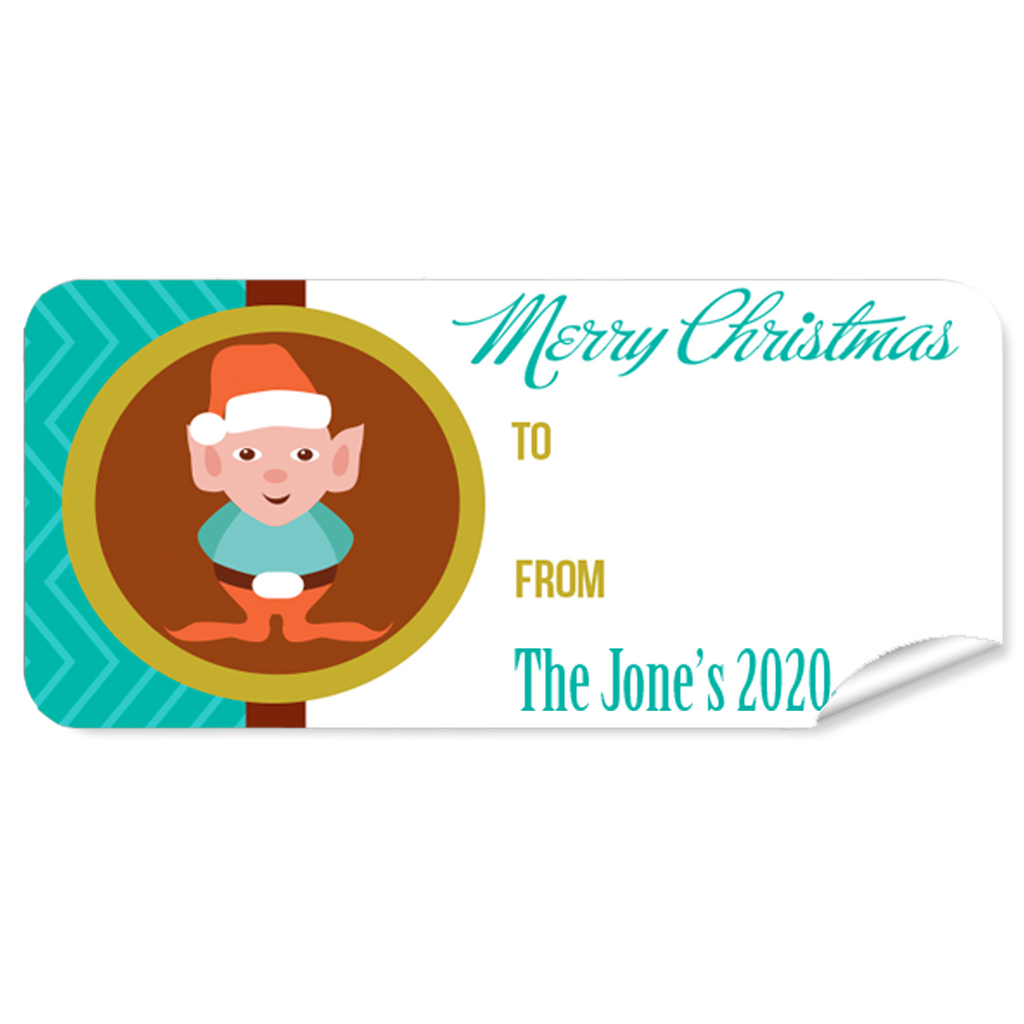 Elf 27pk Labels Christmas