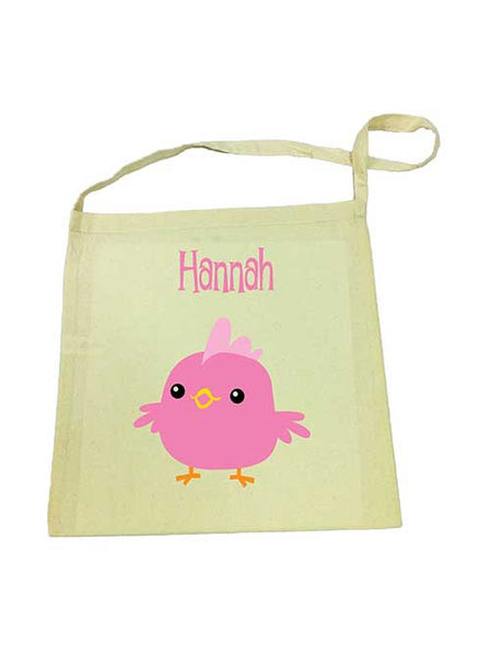 Calico Tote Bag - Pink Chicken