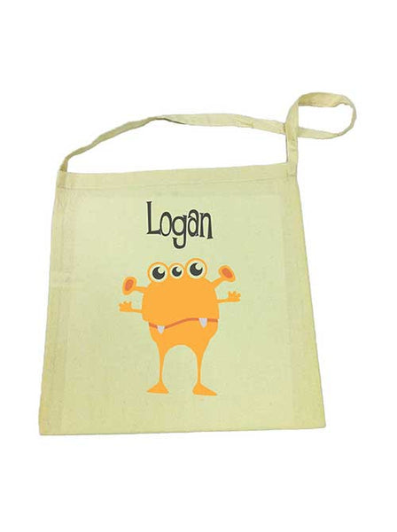 Library Bag - Orange Alien