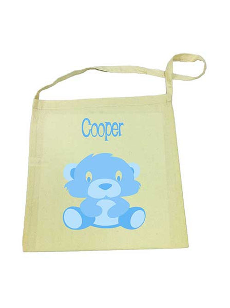 Library Bag - Blue Bear