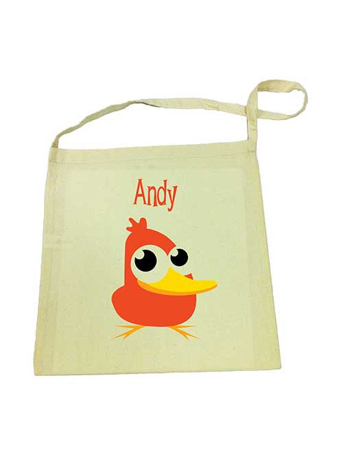 Library Bag - Orange Duck