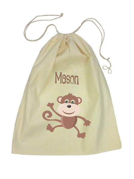Drawstring Bag - Brown Monkey