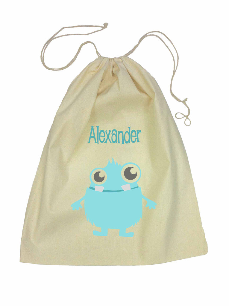 Calico Drawstring Bag - Blue Alien