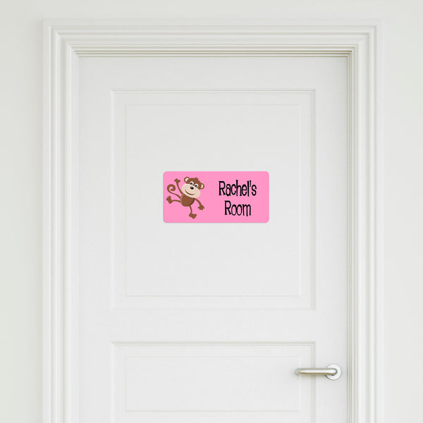 Monkey Medium Door Sign