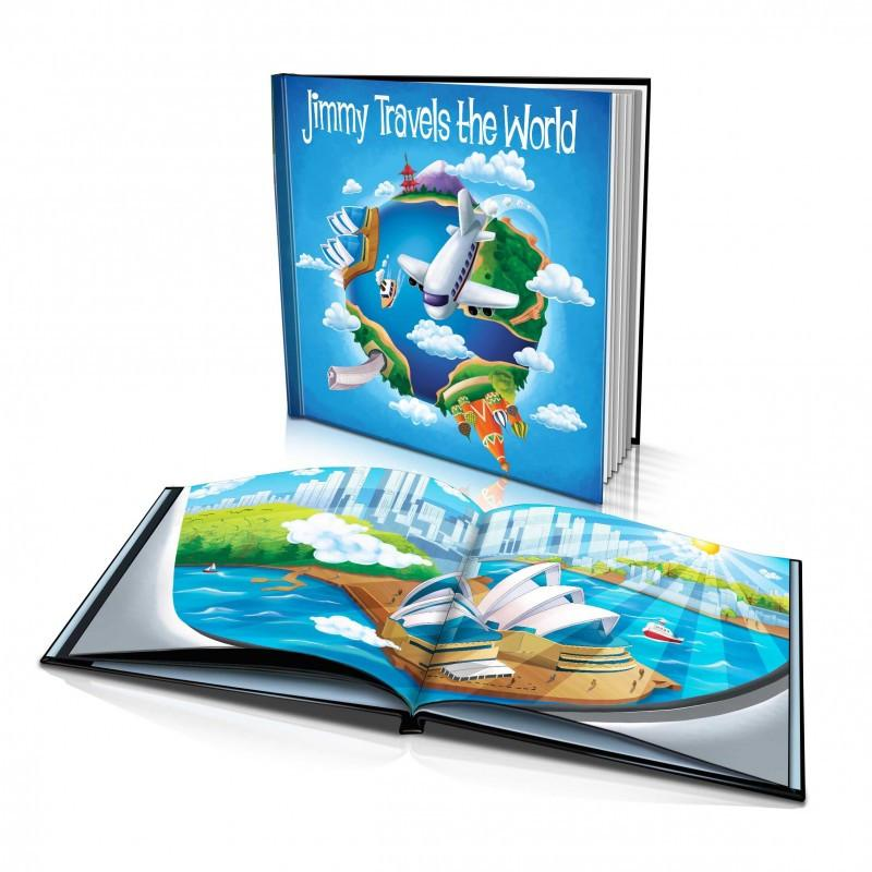 Large Hard Cover Story Book - Travelling the World