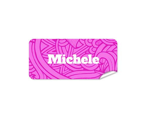 Pink Aztec 48pk Labels - Rectangle