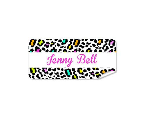 Leopard 48pk Labels - Rectangle