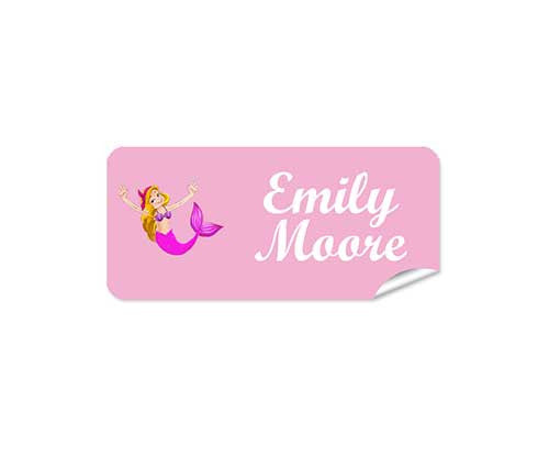 Mermaid 48pk Labels - Rectangle