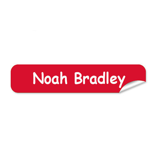 Mini Name Labels 72pk - Red