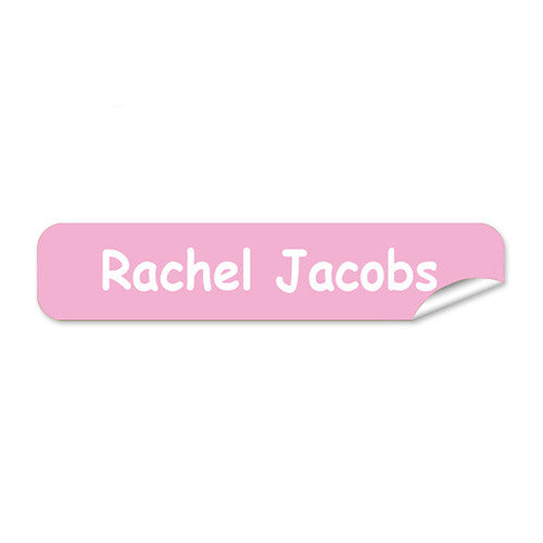 Mini Name Labels 78pk - Light Pink