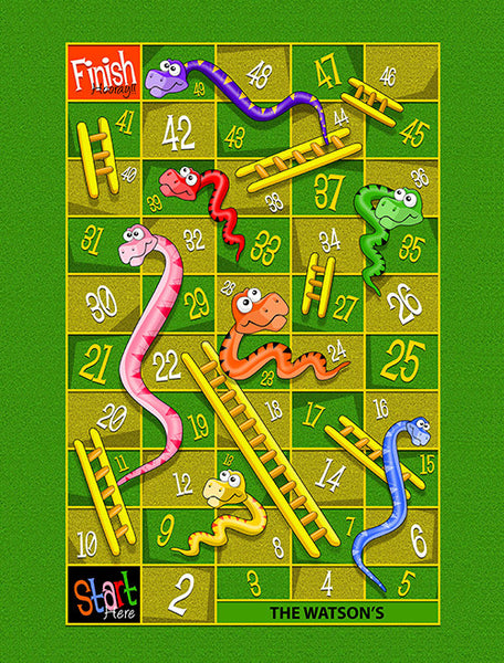 Large Snakes & Ladders Play Blanket (Temporary Out of Stock)