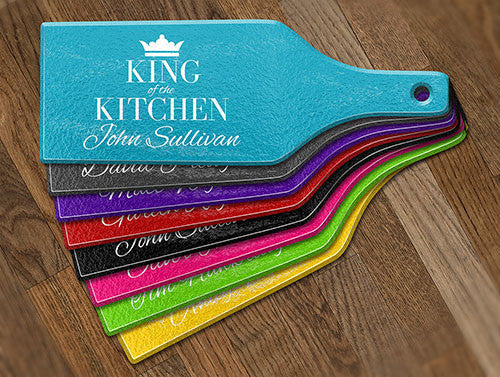 King Of The Kitchen Glass Cheese Boards