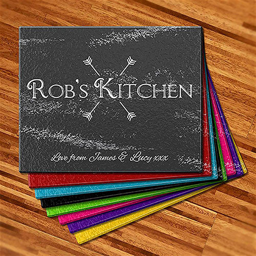 Kitchen Arrows Glass Cutting Boards