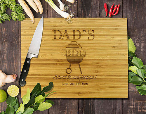 BBQ Bamboo Cutting Boards 8x11""