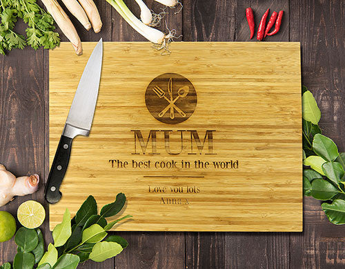 The Best Cook Bamboo Cutting Board 12x16""