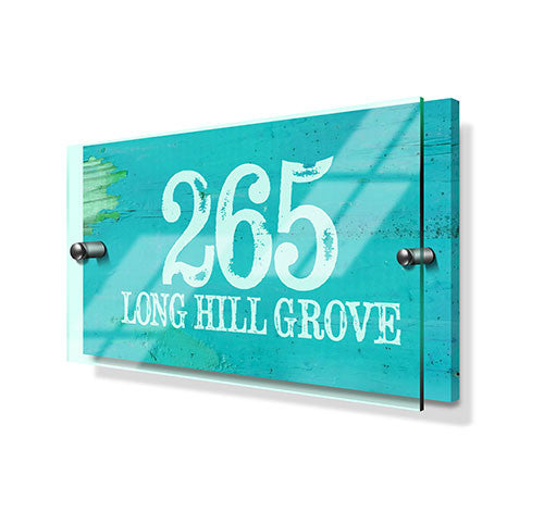 Blue Beach Effect Classic Metal Sign with Premium Acrylic Front