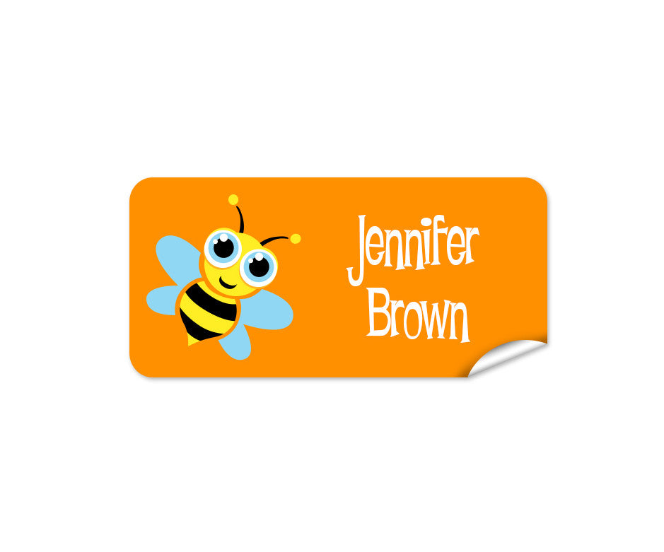 Bee 42pk Labels - Rectangle